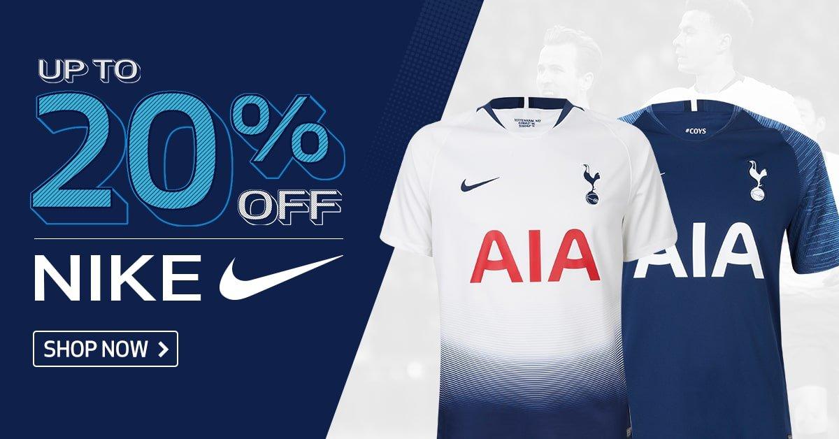 Up to 20% off at Tottenham Hotspur shop
