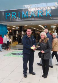 Man and Woman outside Primark at High Chelmer